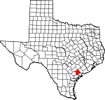 Map of Texas showing Victoria County - Click on map for a greater detail.