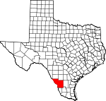 Map of Texas showing Webb County - Click on map for a greater detail.