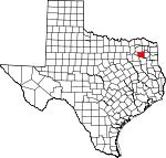 Map of Texas showing Wood County - Click on map for a greater detail.