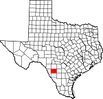 Map of Texas showing Zavala County - Click on map for a greater detail.