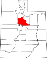 Map of Utah showing Utah County - Click on map for a greater detail.