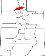 Map of Utah showing Weber County - Click on map for a greater detail.