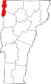 Map of Vermont showing Grand Isle County - Click on map for a greater detail.