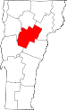 Map of Vermont showing Washington County - Click on map for a greater detail.