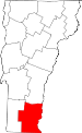 Map of Vermont showing Windham County - Click on map for a greater detail.