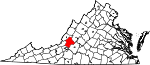 Map of Virginia showing Botetourt County - Click on map for a greater detail.