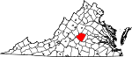 Map of Virginia showing Buckingham County - Click on map for a greater detail.