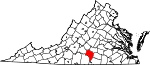 Map of Virginia showing Charlotte County - Click on map for a greater detail.