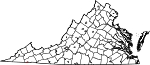 Map of Virginia showing City of Bristol - Click on map for a greater detail.