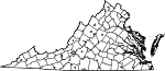 Map of Virginia showing City of Fairfax - Click on map for a greater detail.