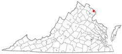 Map of Virginia showing City of Falls Church - Click on map for a greater detail.