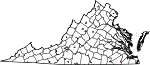 Map of Virginia showing City of Franklin - Click on map for a greater detail.