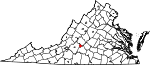 Map of Virginia showing City of Lynchburg - Click on map for a greater detail.