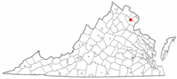 Map of Virginia showing City of Manassas Park - Click on map for a greater detail.