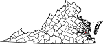Map of Virginia showing City of Williamsburg - Click on map for a greater detail.