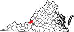 Map of Virginia showing Craig County - Click on map for a greater detail.