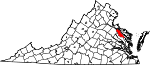 Map of Virginia showing Essex County - Click on map for a greater detail.