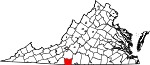 Map of Virginia showing Henry County - Click on map for a greater detail.