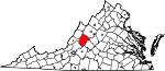 Map of Virginia showing Rockbridge County - Click on map for a greater detail.