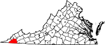 Map of Virginia showing Scott County - Click on map for a greater detail.