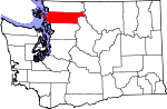 Map of Washington showing Skagit County - Click on map for a greater detail.