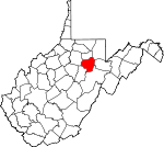 Map of West Virginia showing Barbour County - Click on map for a greater detail.