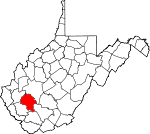 Map of West Virginia showing Boone County - Click on map for a greater detail.