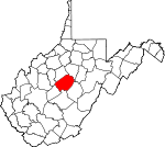 Map of West Virginia showing Braxton County - Click on map for a greater detail.