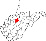 Map of West Virginia showing Gilmer County - Click on map for a greater detail.
