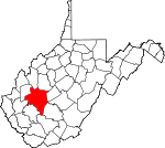Map of West Virginia showing Kanawha County - Click on map for a greater detail.