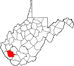 Map of West Virginia showing Logan County - Click on map for a greater detail.