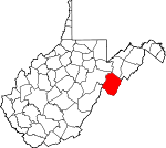 Map of West Virginia showing Pendleton County - Click on map for a greater detail.