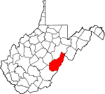 Map of West Virginia showing Pocahontas County - Click on map for a greater detail.