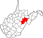 Map of West Virginia showing Randolph County - Click on map for a greater detail.