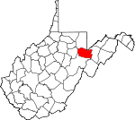 Map of West Virginia showing Tucker County - Click on map for a greater detail.
