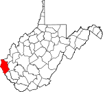 Map of West Virginia showing Wayne County - Click on map for a greater detail.
