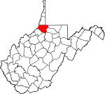 Map of West Virginia showing Wetzel County - Click on map for a greater detail.