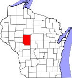 Map of Wisconsin showing Clark County - Click on map for a greater detail.