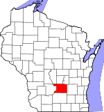 Map of Wisconsin showing Columbia County - Click on map for a greater detail.