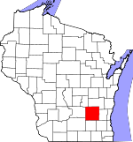 Map of Wisconsin showing Dodge County - Click on map for a greater detail.