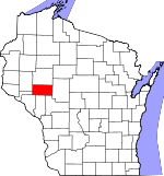 Map of Wisconsin showing Eau Claire County - Click on map for a greater detail.