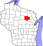 Map of Wisconsin showing Langlade County - Click on map for a greater detail.