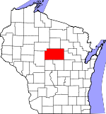 Map of Wisconsin showing Marathon County - Click on map for a greater detail.