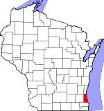 Map of Wisconsin showing Milwaukee County - Click on map for a greater detail.