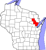 Map of Wisconsin showing Oconto County - Click on map for a greater detail.