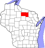 Map of Wisconsin showing Oneida County - Click on map for a greater detail.