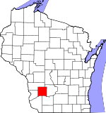 Map of Wisconsin showing Richland County - Click on map for a greater detail.
