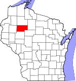 Map of Wisconsin showing Rusk County - Click on map for a greater detail.