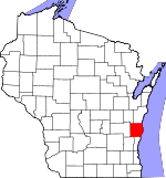 Map of Wisconsin showing Sheboygan County - Click on map for a greater detail.